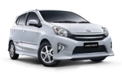 Toyota Agya Self drive rent